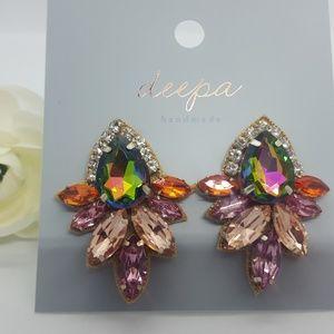 Deepa Gurnani Jewelry - Deepa Gurnani crystal Stud earrings Multi-color